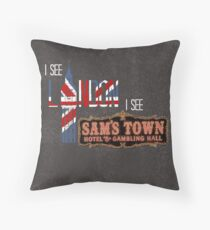 I see London, I see Sam's Town Throw Pillow