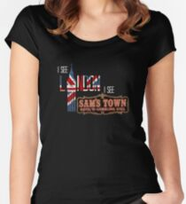 I see London, I see Sam's Town Tailliertes Rundhals-Shirt