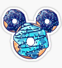 Pop Blue Donut Sticker
