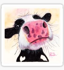 NOSEY COW 'BETTY BLUEBERRY' BY SHIRLEY MACARTHUR Sticker
