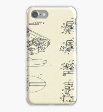 Wooden Boat  Outboard Motorboat with Inboard Mount-1972 iPhone Case/Skin