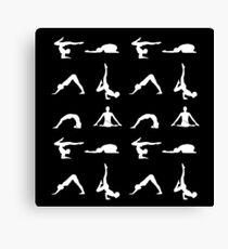 Yoga poses silhouette Canvas Print