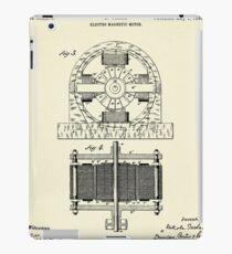 Electro Magnetic Motor-1888 iPad Case/Skin