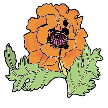California Poppy by genevievem