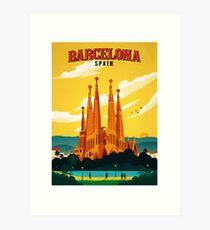 Lámina artística Viajes Barcelona