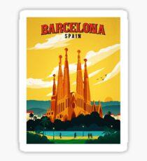 Travel Barcelona Sticker