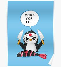 Penguin Chef Poster