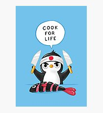 Penguin Chef Photographic Print