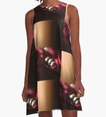Bead Balls Silver Yin Crimson Yang © Vicki FerrarI A-Line Dress