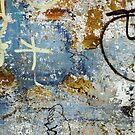 Beautiful weathered eroded graffiti photo by sledgehammer