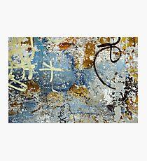 Beautiful weathered eroded graffiti photo Photographic Print