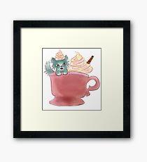 Vanilla Sprinkles Kitten  Framed Print