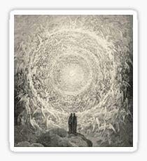 Dante, Heaven, Heavenly, The Divine Comedy, Gustave Doré, Highest, Heaven Sticker