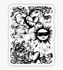 sun moon and stars Sticker