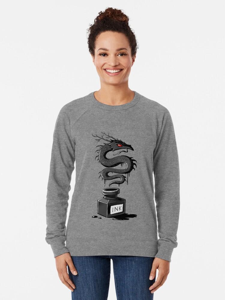 Alternative Ansicht von Tinten-Drache Leichter Pullover