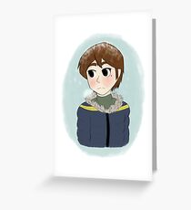 Peter Parker in a Parka Greeting Card