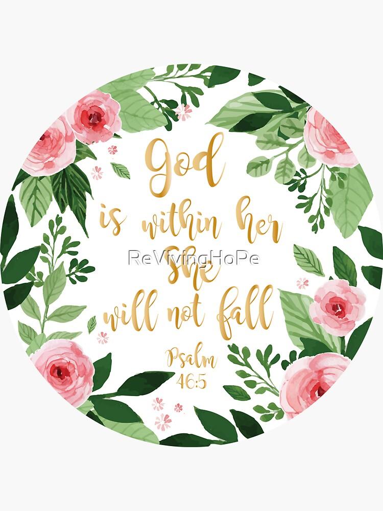 Psalm 46: 5 Aquarell von ReVivingHoPe