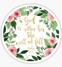 Psalms 46:5 watercolor Sticker