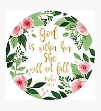 Psalms 46:5 watercolor Photographic Print