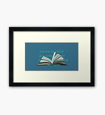 LIBRARIES: THRONE OF GLASS Framed Print