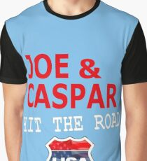 JOE AND CASPAR HIT THE ROAD USA Graphic T-Shirt
