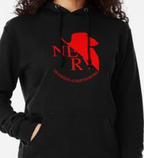 Nerv Logo, Neon Genesis Evangelion Lightweight Hoodie