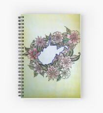 West Virginia Flowers Spiral Notebook