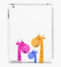 Group of giraffes collective. Vector cartoon Illustration iPad Case/Skin