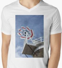 Cley Windmill Fantail Mens V-Neck T-Shirt