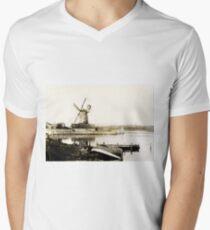 Historical Cley Windmill Mens V-Neck T-Shirt