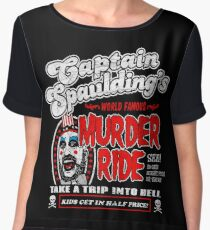 Captain Spaulding Murder Ride Women's Chiffon Top