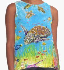 Sea Turtles in Coral Lagoon Contrast Tank