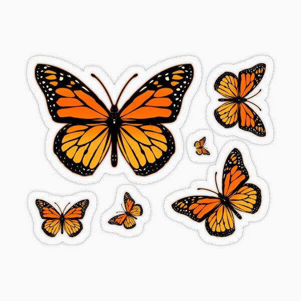 Monarch Butterfly Rapsody Transparent Sticker