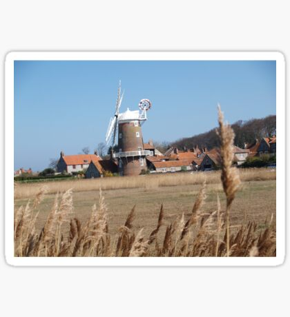 Cley Windmill from the reeds Sticker