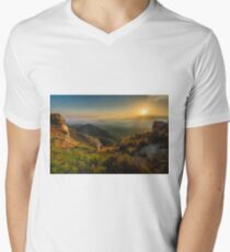 View from the rocks at sunset V-Neck T-Shirt
