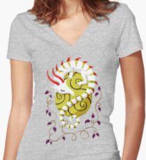 Dragon Egg Shirt mit V-Ausschnitt
