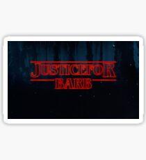 Pegatina Justicia para Barb Stranger Things logo