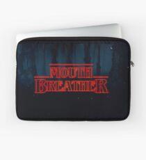 Mouth breather Stranger Things logo Laptop Sleeve