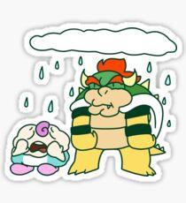 Sad Mallow and Grumpy Bowser Sticker