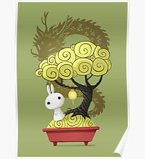Bonsai Bunny Poster