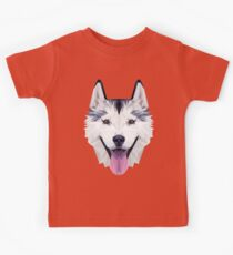 Husky low poly Kids Tee