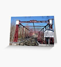 Last surviving Bollman truss bridge Greeting Card