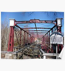 Last surviving Bollman truss bridge Poster