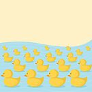 Rubber Duckie Army by cartoonbeing