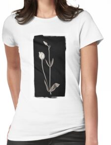 Lisianthus Buds against Black Womens Fitted T-Shirt