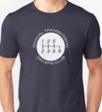 Manual Transmission Drivers Club Unisex T-Shirt
