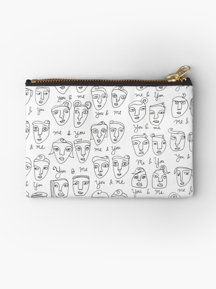 Me & You Faces Line Drawing Pattern by shoshannahscrib