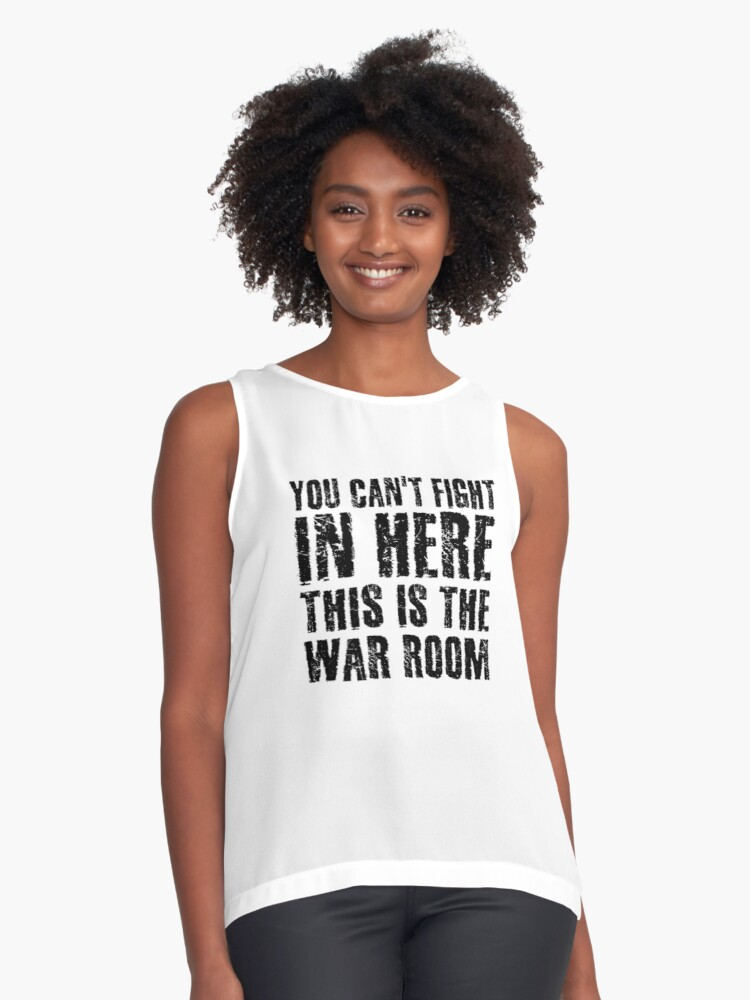 'Stanley Kubrick Dr Strangelove Funny Movie Quotes' Sleeveless Top by  WordWorld