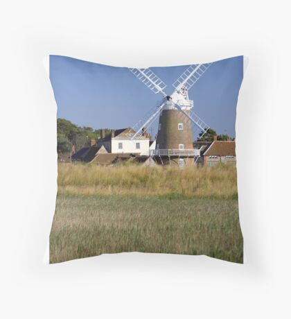 Stunning Panorama of Cley Windmill Throw Pillow