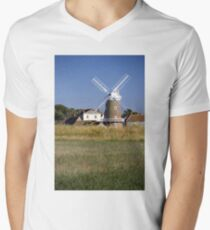 Stunning Panorama of Cley Windmill Mens V-Neck T-Shirt